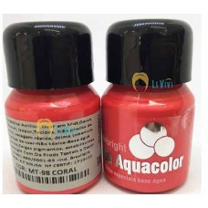 Tinta Aquacolor Metalica - Coral